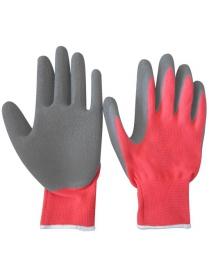 001059 Перчатки хозяйственные PARK EL-C3032, размер 10 (XL), цв. красный с серым