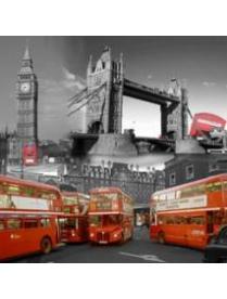 """000879 Занавеска для ванной Curtain-Bus """"Лондонский автобус"""", размер 180*180см"""