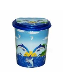 (43952) 0290 Корзина для белья 40л декор Дельфин