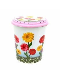 (43954) 0290 Корзина для белья 40л декор Цветы (10)