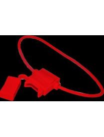 16-0421-4 Держатель предохранителя прямоугольный красный REXANT