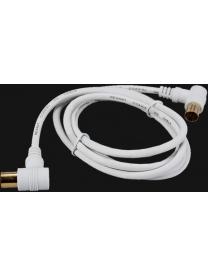 18-0022 Удлинитель TV г-образный (штекер-гнездо) 1.5М Белый REXANT