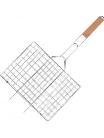 321336 Набор решетка для барбекю+опахало 4011A (Хром.)