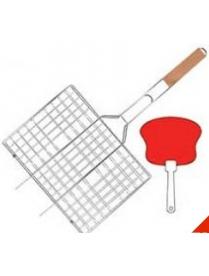 Набор решетка для барбекю+опахало 4011A (Антипригарное покрытие)