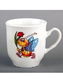 (61528) Кружка ф.бутон 210мл бабочка TYMB210