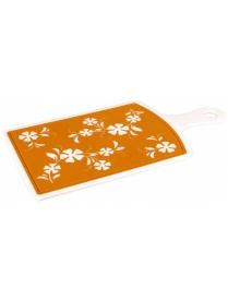 (62177) М2903 Доска разделочная камелия большая оранжевая