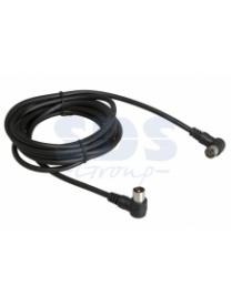 18-0015 Удлинитель TV г-образный (штеккер-гнездо) 5М Черный REXANT