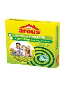 ARGUS Спирали малодымные От комаров 10шт/уп,