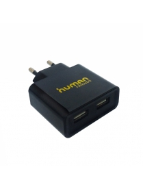 Human Friends 220V to 2 USB (2100mA), Tower