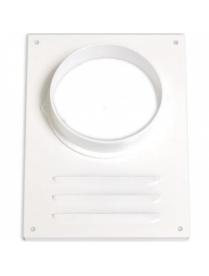Вент.решетка 120 ВР-2 круг Элмат белый.