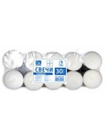 Свечи чайные GRIFON, 30 штук в п/э упаковке (20) 800-002