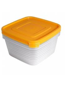 """Контейнер для продуктов (СВЧ) """"Унико"""" квадратный 1,4л набор 3шт. С217"""