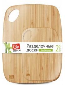(64046) 105-034 Разделочные доски GRIFON бамбуковые, 2шт. (20)