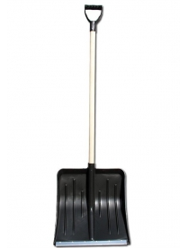 Лопата снеговая Метелица 430х490мм в сборе с оц. планкой, с алюмин. черенком и V-обр. ручкой