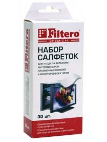Filtero Салфетки д/очистки экранов, 30 шт.