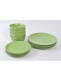 (51667) Набор столовый 12 предметов: 4 обеденных тар. 26см, 4 десертных тар. 19,5 см, 4 салатника 14