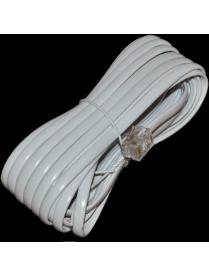 18-3051 Телефонный удлинитель 5М белый REXANT