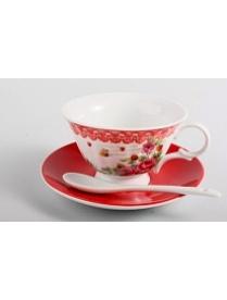 (64988) Набор чайный 3пр. 220мл (1чашка+1блюдце+1ложка) (004789) 0030017