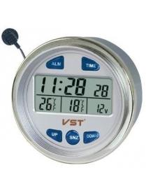VST7042V часы эл. авто (будильник, температура)