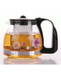 (73352) Заварочный чайник BONJART 700 мл., Жаропрочное стекло, деколь, метал. фильтр 4121