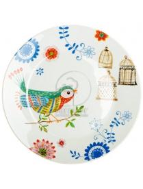(73948) HYC010 Тарелка десертная 19см синяя птица