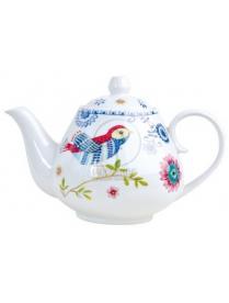 (73950) HYC010 Чайник 600мл синяя птица