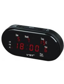 VST801WX-1 часы 220В крас.цифры (дата, температура)+блок