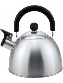 985605 Чайник из нерж. стали MAL-039-MP, 2,3 литра, матовый, со свистком