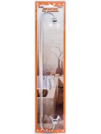 002484 Держатель для полотенца B0923 (хром.металл, пластик, крепление: шуруп)