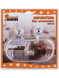 002490 Держатель для полотенца B0930 (хром. металл, пластик, крепление: шуруп)