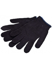 091341 Перчатки х/б черные 10 класс