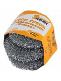 001743 Набор губок металлических SM-04/3, сетка, вес 30 гр., 3 шт.