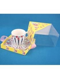 Набор чайный 2пр. 220мл (1чашка+1блюдце) (Квадр.упак) (004553) 0030098