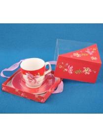 (65773) Набор чайный 2пр. 220мл (1чашка+1блюдце) (Квадр.упак) (004583) 0030099