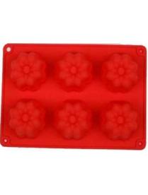 (74336) Форма для выпечки силиконовая 6 кексов №6 26*17,5*3,5см (KT-S-319)
