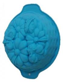 (74341) Форма для выпечки силиконовая Лето №4 с ручками 25,5*21*9см (KT-S-320)