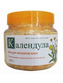 """(74832) 314 Соль ароматизированная для принятия ванн """"Календула"""" 650 г"""