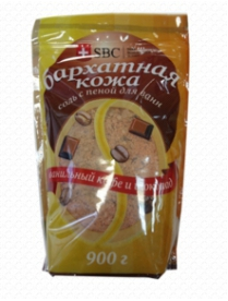 """(74816) 608 Соль с пеной для ванн """"Бархатная кожа"""" (Vanilla кофе+шоколад) SBC (упаковка дой-пак)"""