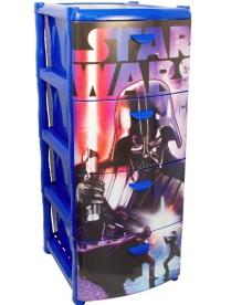 (64610) М2805-З М2805-З Комод Звездные войны (4 секции) Синий