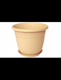 (32934) М3055 М3055 Кашпо Рябина d220мм 3,6л с поддоном Белая глина (24)