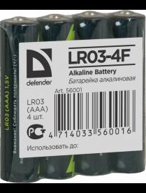 286 DEFENDER alkaline LR03 (4/48) 56001