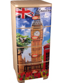 """(75365) М2448 Комод 4 секции """"Лондон"""" плетенный"""