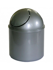 (04877) М2490 Контейнер для мусора настольный 1.6л Металлик