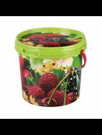 (75962) М5409 Ведро 1л с крышкой (ягоды) (20)