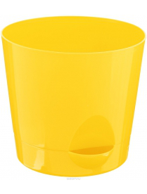 (37236) М3072 Кашпо НИКА D150мм 1,6л с прикорневым поливом Желтый