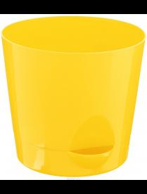 (37240) М3073 Кашпо НИКА D180мм 2,7л с прикорневым поливом Желтый