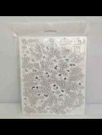 (76533) М1577 Доска разделочная складная Деко 350*280 Цветы белые