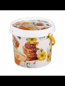 Ведро 1,0л с крышкой (мёд) М5400