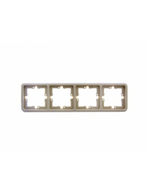 (06222) Рамка Gusi C140-003 четырехместная бежевая