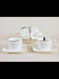 Набор кофейный 6/12 ф. круг 120мл Роза 213 CS507009-AGIFT